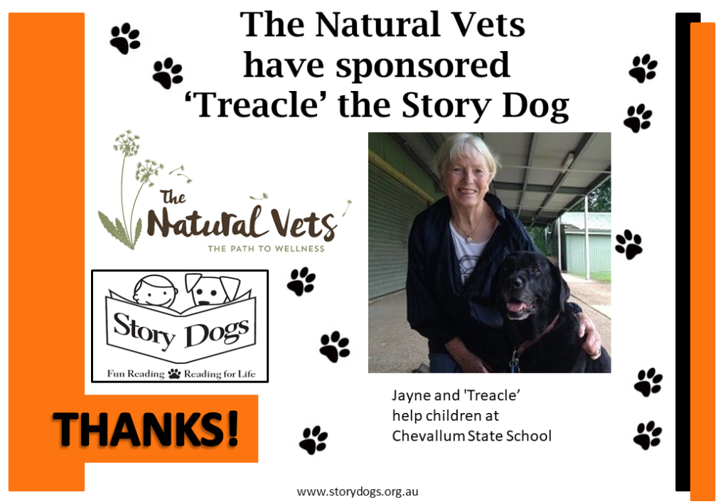 The Natural Vets support Story Dogs Charity Sunshine Coast